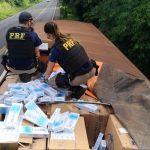 Carga ilícita era transportada por um caminhão que transitava pela BR-163, na região sudoeste do Paraná