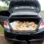 Com apoio do Águia 02, policiamento rodoviário recupera veículo roubado e apreende 280 Kg de maconha em São José do Rio Preto