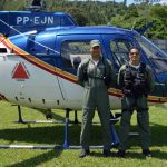 Helicóptero da PM com apoio do SAMU transfere recém-nascido de Leopoldina para Juiz de Fora