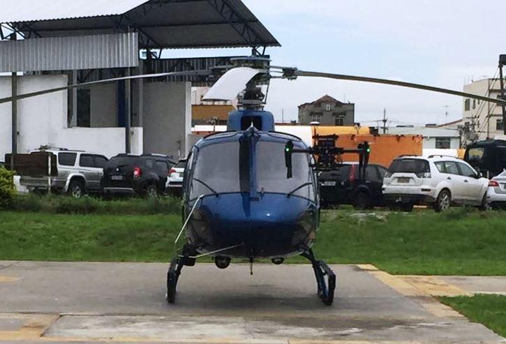 Drone Inspire 1 e o helicóptero Fênix do Grupamento Aéreo Móvel da Polícia MIlitar do Rio de Janeiros. Foto: Cap PM: Alves.