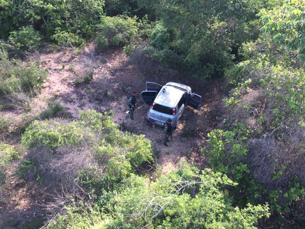 Equipe policial do helicóptero Potiguar 01 recupera veículos na Grande Natal, RN