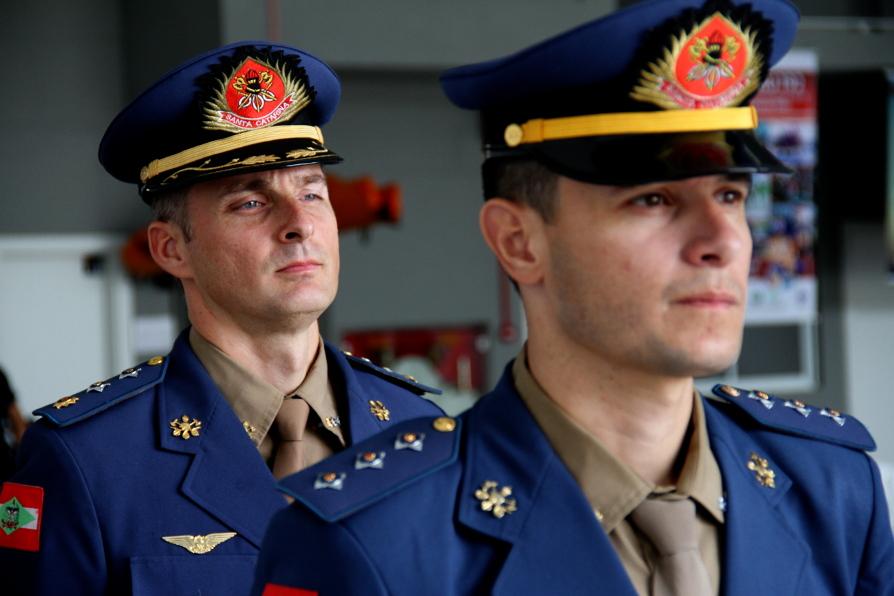 2° Cia do Batalhão de Operações Aéreas sediada em Blumenau tem novo comandante. Foto: Jackson Jacques- Soldado BM
