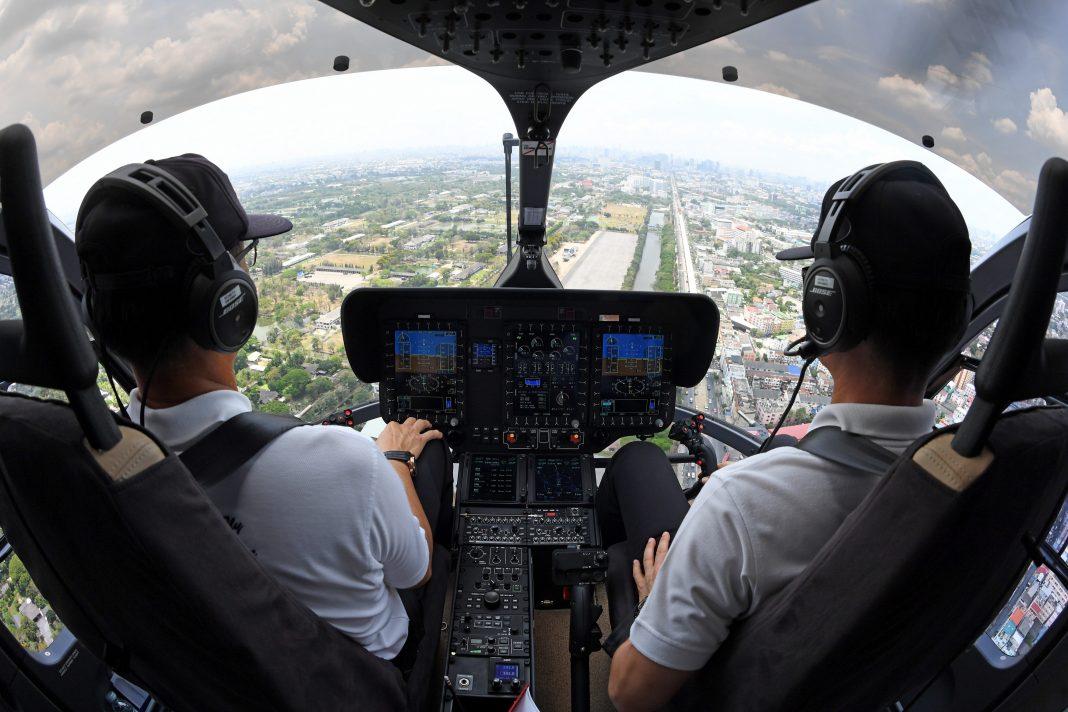 Mais de 250 helicópteros são operados hoje com o Helionix, envolvendo mais de 40 operadores em todo o mundo. Crédito: Anthony Pecchi