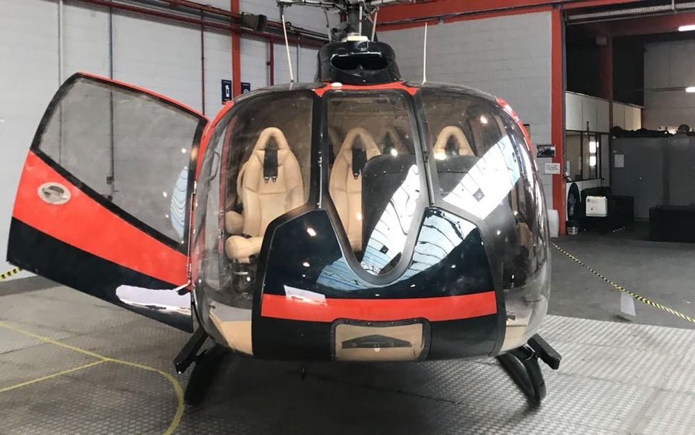 Aeronave de modelo EC130 B4 utilizada no crime.
