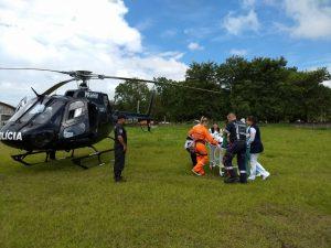 Helicóptero da Polícia Civil de SC realiza transporte aeromédico de garoto de São Miguel do Oeste para Xanxerê