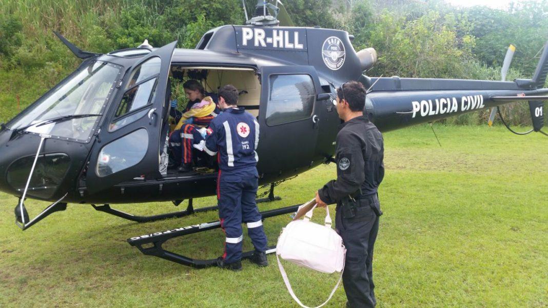 Equipe do SAER da Polícia Civil transporta bebê de Araranguá para Florianópolis