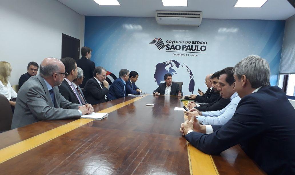 Secretário de Saúde de São Paulo anuncia base do Grupo de Resgate e Atenção às Urgências e Emergências em Sorocaba. Foto: Divulgação Prefeitura de Sorocaba.