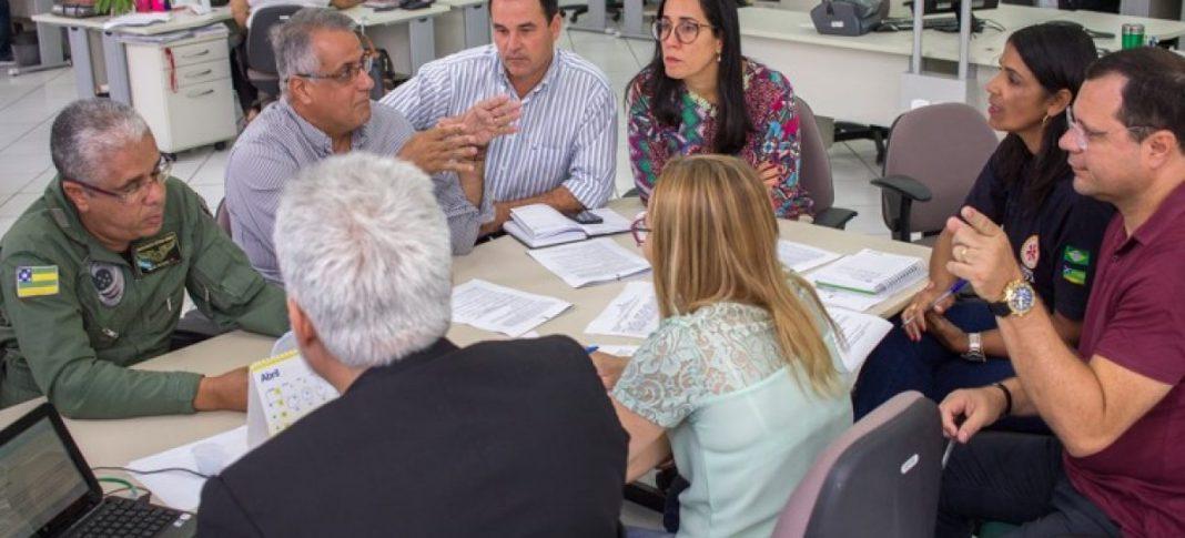 Saúde e SSP discutem renovação da parceria para operações de remoção aeromédica. Foto: Secretaria de Saúde.