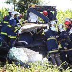 Equipe aeromédica do SAMU resgata vítimas de acidente de trânsito na PR-551