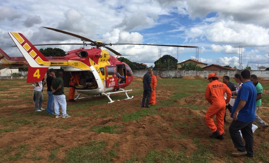 Arcanjo 04 socorre duas crianças vítimas de agressão no interior de Minas Gerais