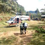 Águia 10 da PM de São Paulo é utilizado nas buscas por atleta francês desaparecido no pico dos Marins