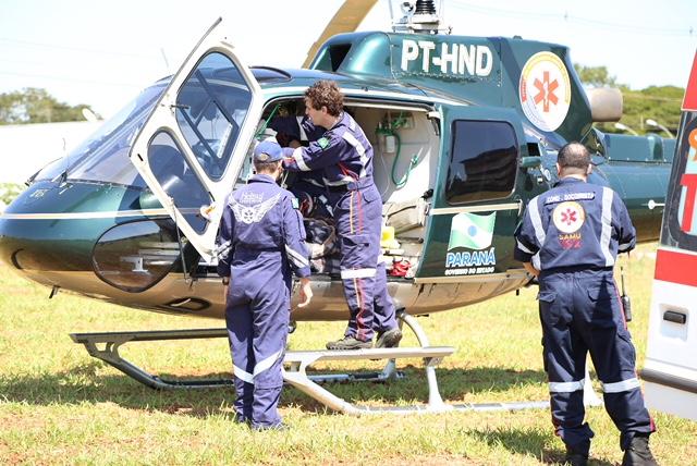 Afogamento de criança em Ourizona mobiliza helicóptero do SAMU Maringá