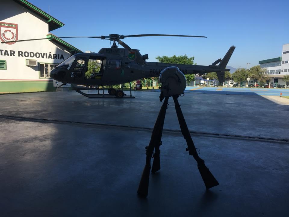 Hangar da 2ª Companhia do Batalhão de Aviação da Polícia Militar, em Joinville. O investimento do Governo do Estado é de R$ 607 mil. Foto: Divulgação/ADR Joinville.