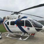 Novo helicóptero EC145 do Núcleo de Operações e Transporte Aéreo já está no Espírito Santo. Foto: Divulgação Notaer/ES.