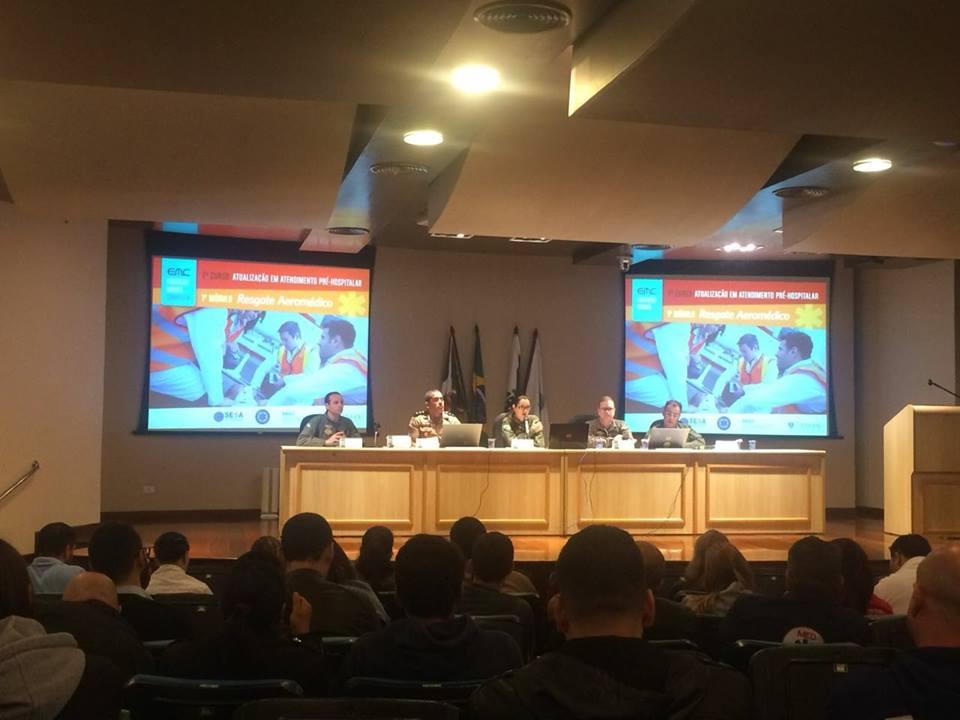 Evento sobre resgate aeromédico em Curitiba reúne 309 participantes. Fotos: BPMOA/PR.
