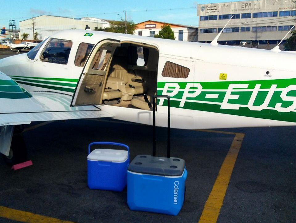 Piper Seneca da Seção de Transporte Aéreo (STA) da Casa Militar do Paraná