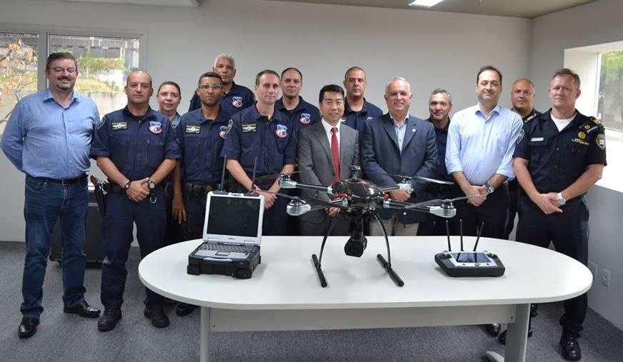Secretaria Municipal de Segurança Urbana de SP recebe oficialmente o drone X820 da Dahua