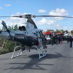 GTA transporta turista baiano com lesão grave na coluna, após acidente com ônibus em Poço Redondo, SE.