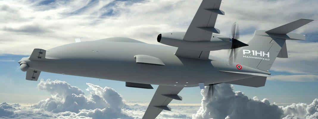 usando uma aeronave P.1HH HammerHead pilotada remotamente como plataforma de testes