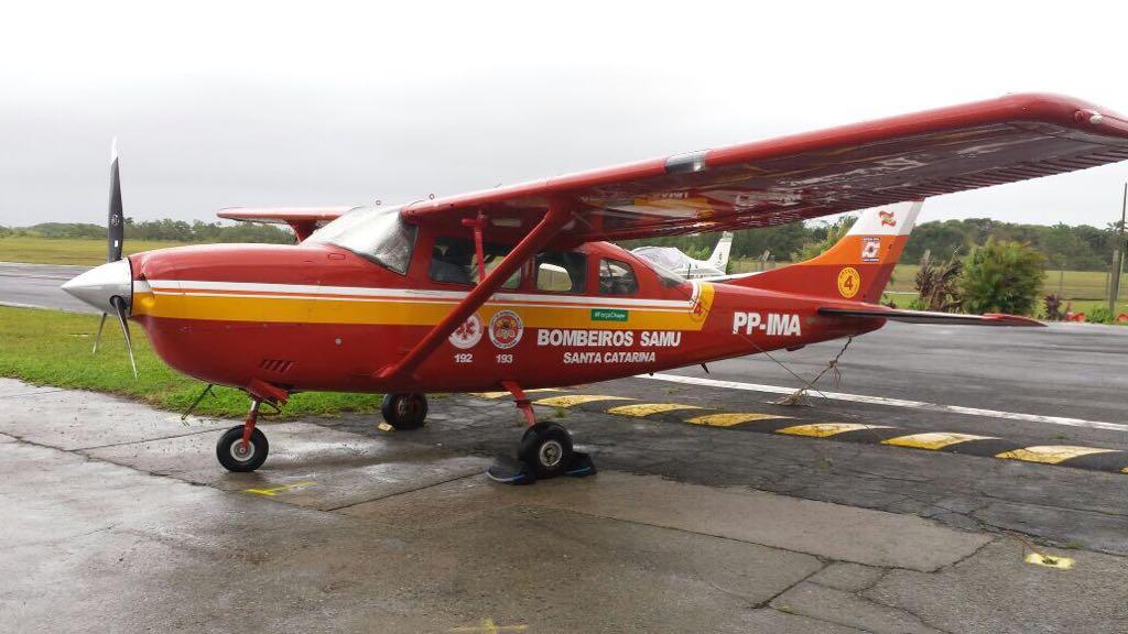 Arcanjo 04 começa a operar em base no aeroporto em Chapecó