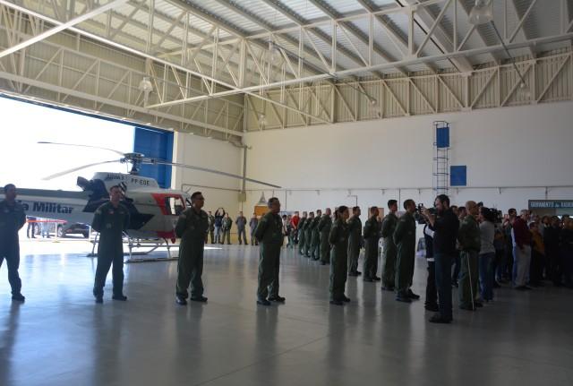 Governador inaugura hangar do helicóptero Águia no Aeroporto de Prudente. Foto: Marcos Sanches