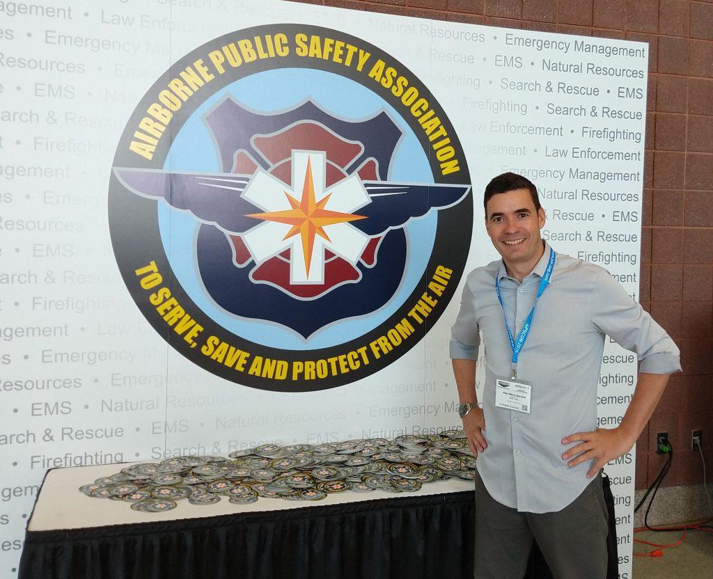 """Novo logo da Airborne Public Safety Association - APSA """"made in Brazil"""", fruto de um trabalho conjunto de toda equipe do site Piloto Policial, em especial do Thiago Pedrezani."""