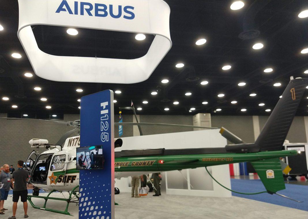 A Airbus Helicopter teve como destaque a aeronave H125 do condado de Seminole/FL.