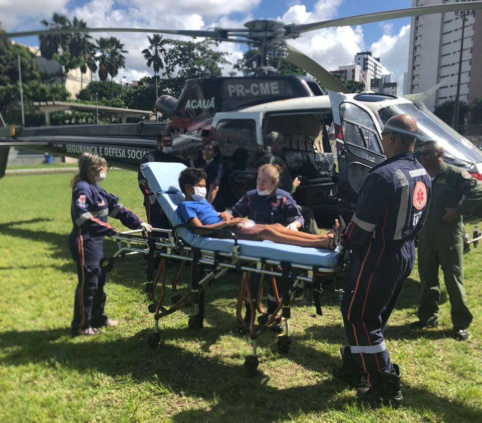 Helicóptero Acauã realiza transferência de paciente para Recife e evita complicações de saúde