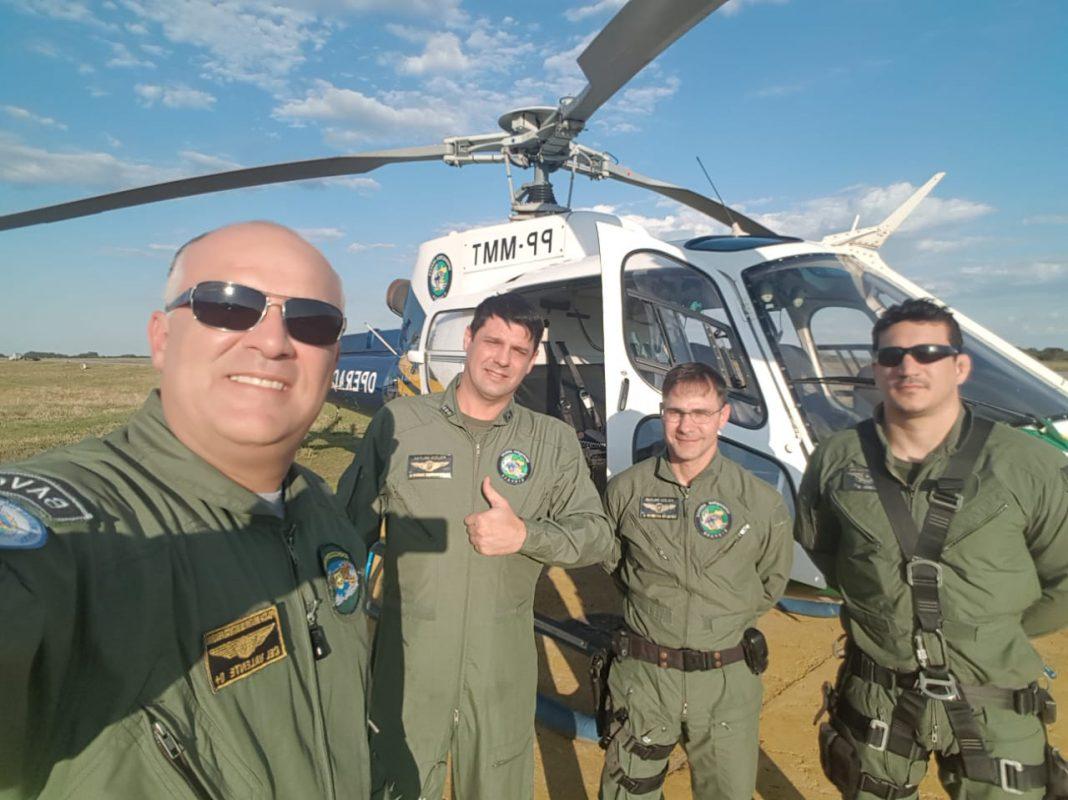 Pilotos do CIOPAer do MT são avaliados pelo Cel PM Valente, Examinador Credenciado da ANAC