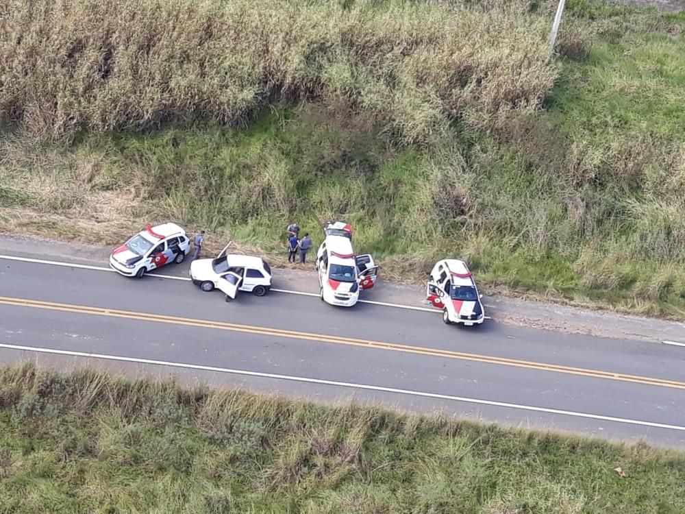 Houve perseguição policial com o apoio do Águia da Polícia Militar (Foto: Polícia Militar / Divulgação )