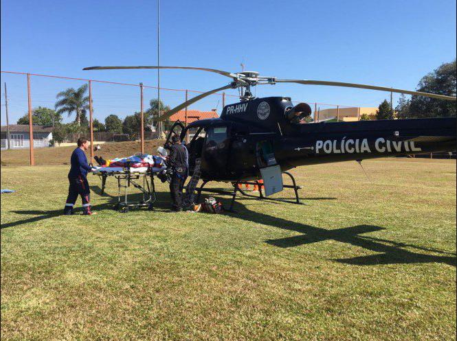 Helicóptero do Saer realiza transferência de pacientes para atendimento especializado