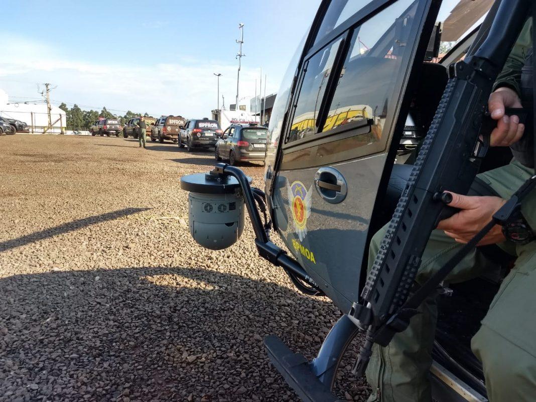 Agentes de segurança pública, além de aeronaves e embarcações, foram empregados durante a primeira fase da Operação Esforço Integrado.Foto: Divulgação SESP.
