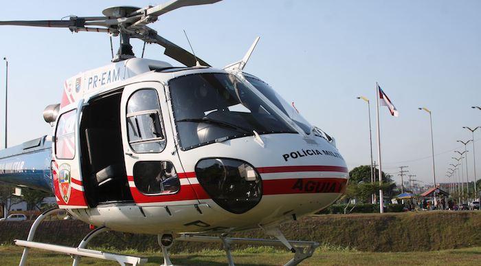 Helicóptero AS350 (Esquilo) do GRAer/AM. Foto: Divulgação