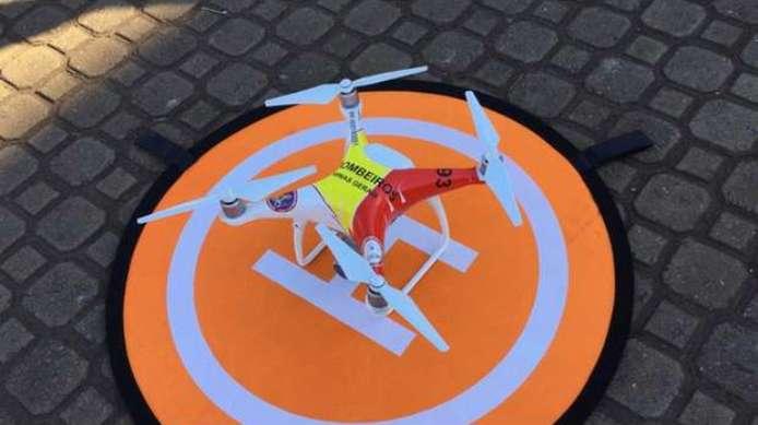 Bombeiros vão usar drones para ajudar em ocorrências de desaparecidos e produtos perigosos também | Foto: Corpo de Bombeiros / Divulgação