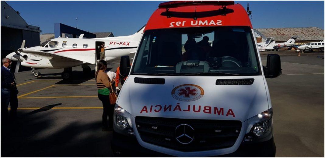 Corpo de Bombeiros e Polícia Civil do DF realizam operação para transporte aeromédico para Curitiba