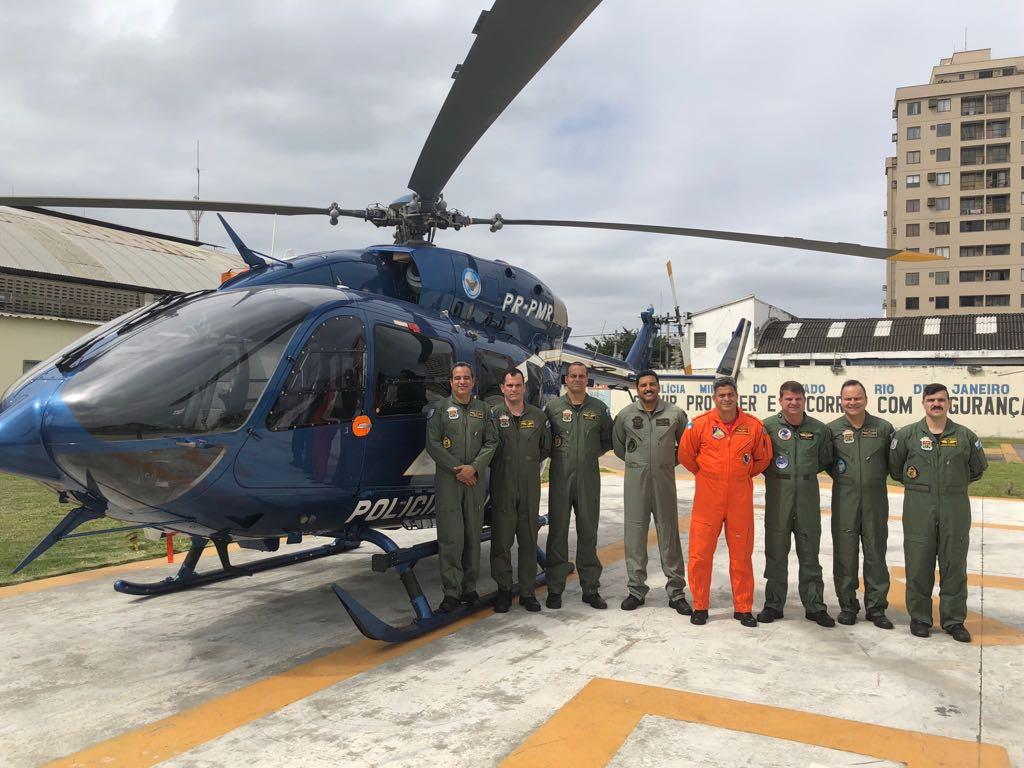 Pilotos realizam Ground School do helicóptero H145 na Escola de Aviação da PM do Rio de Janeiro