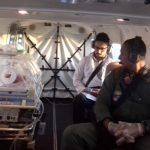 GRAER da PM da Bahia faz transporte aeromédico de recém-nascida. Foto: GRAER PMBA.