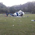 Helicóptero Hárpia 05 do NOTAer cai em Domingos Martins (Foto: Divulgação Polícia Militar)