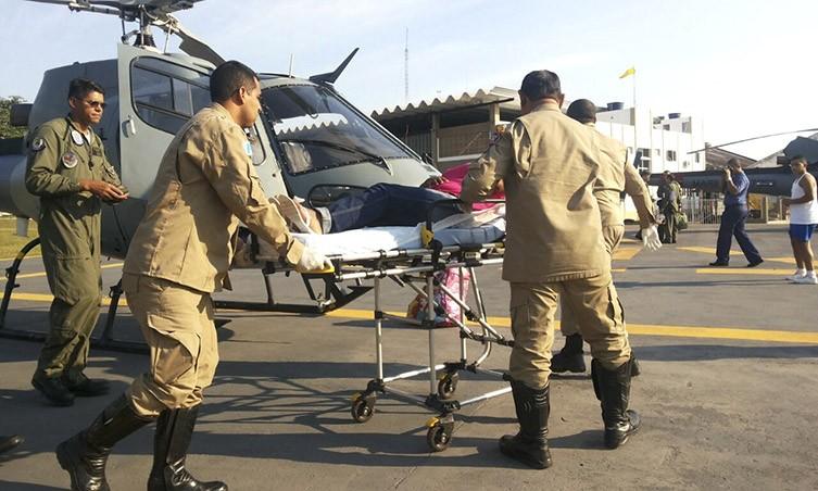 Helicóptero pousou por volta das 08h e a gestante foi encaminhada para a Maternidade.