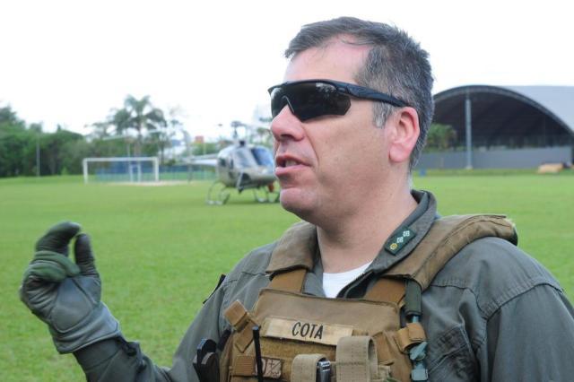 Major Iagã Cota explicou que resgates dependem de planejamento e precisão da equipeFoto: Salmo Duarte / A Notícia