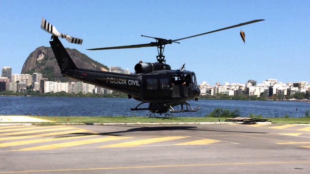 helicóptero Bell, Huey II do Serviço Aeropolicial (SAER) da Polícia Civil do Rio de Janeiro