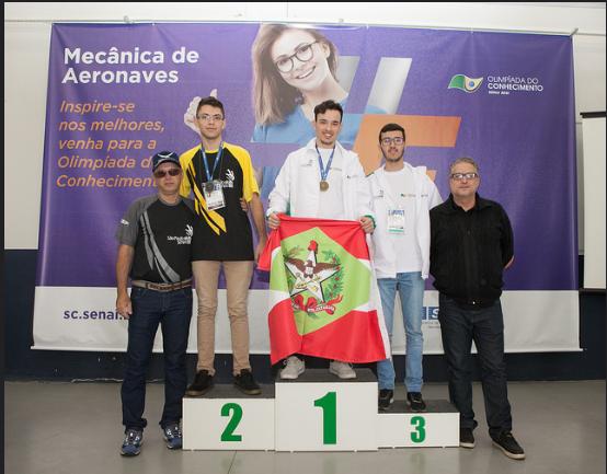Premiação da seletiva nacional realizada no SENAI/SC-Palhoça