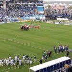 Arcanjo 01 socorre torcedor que caiu de arquibancada no Estádio da Ressacada, em Florianópolis