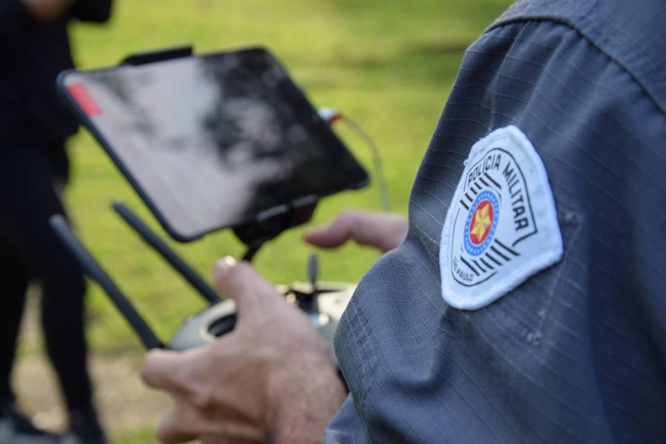 Uso do drone em São Paulo foi um dos laboratórios para Polícia Militar de MS - Foto: Secretaria da Segurança Pública SP
