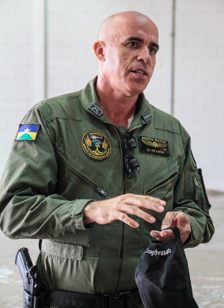 Comandante do NOA, tenente-coronel PM, Carlos Lopes, destaca a importância da obra para a sociedade Foto: Jeferson Mota