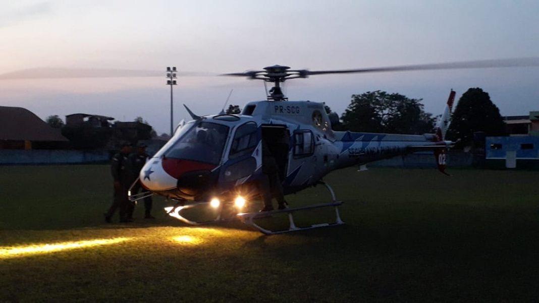 Grupamento Aéreo realiza o resgate de quatro garimpeiros em antigo garimpo em Altamira, no sudoeste do Pará — Foto: Corpo de Bombeiros Militares