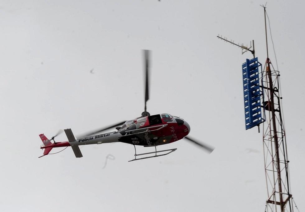 Paciente foi levado pelo helicóptero Águia, da Polícia Militar. Foto: Emídio Marques / Arquivo JCS