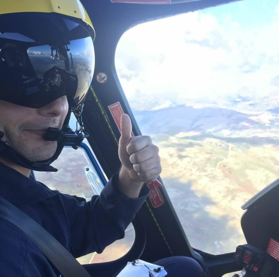 O co-piloto Luís Rosindo seguia no helicóptero ao lado do comandante João Lima (Foto: Facebook