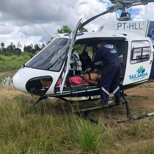 Aeromédico fazendo resgate (foto: divulgação)
