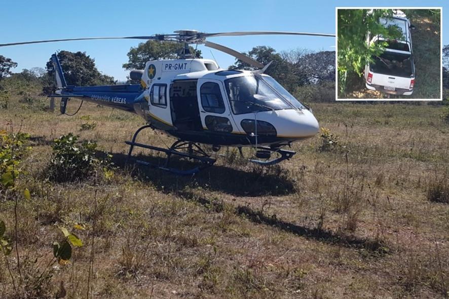 Helicóptero da Segurança localiza S10 roubada em VG